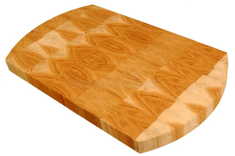Nouvelle planche à découper en bois rectangulaire image stock
