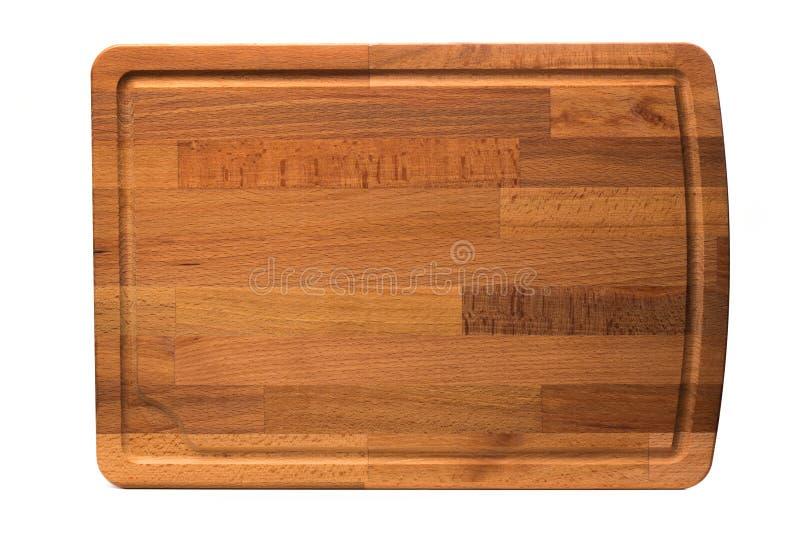 Nouvelle planche à découper en bois rectangulaire, vue supérieure, d'isolement - image images libres de droits