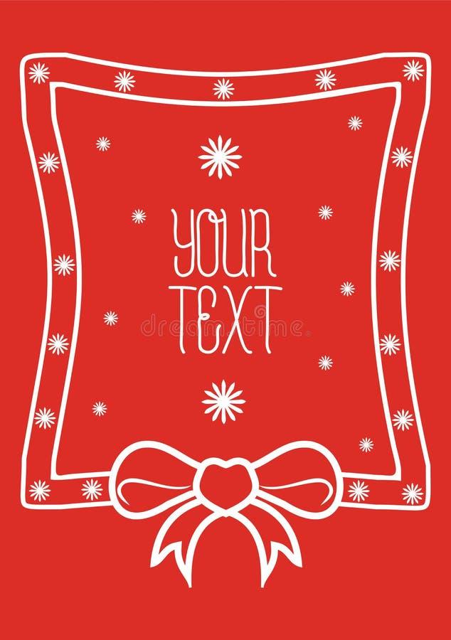 Nouvelle ruban décoratif d'année et de Noël illustration libre de droits