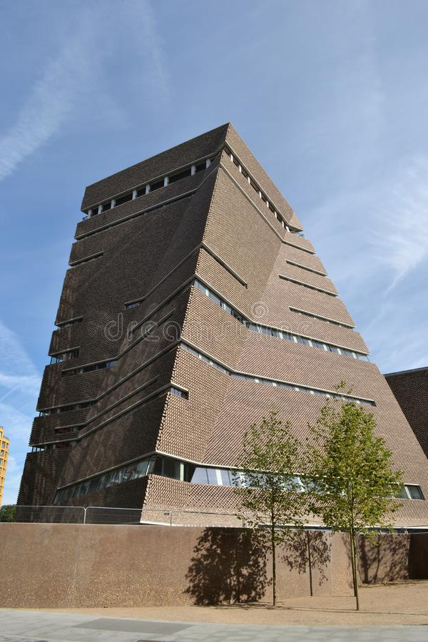 Nouvelle Tate Modern London de construction image stock