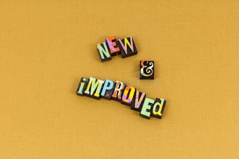 Nouvelle typographie améliorée de chef d'attitude de produit photo libre de droits
