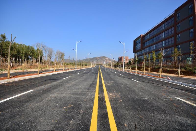 Nouvelle utilisation de route et d'infrastructure photos stock