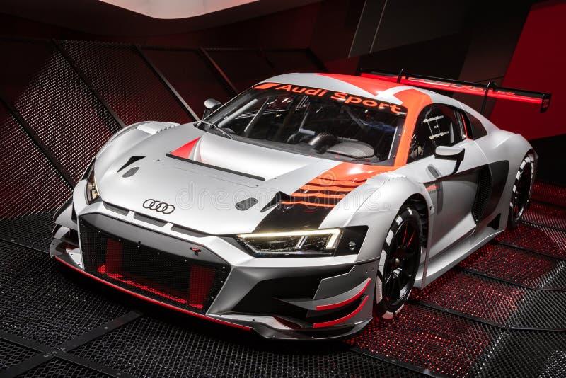 Nouvelle voiture de course d'Audi R8 LMS GT3 photo libre de droits