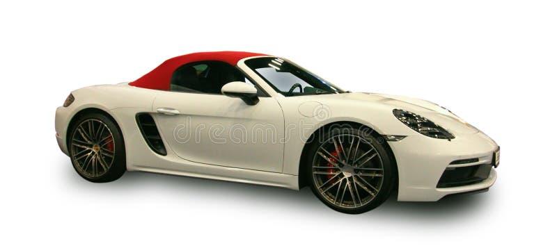 Nouvelle voiture de sport de luxe allemande Fond blanc image libre de droits