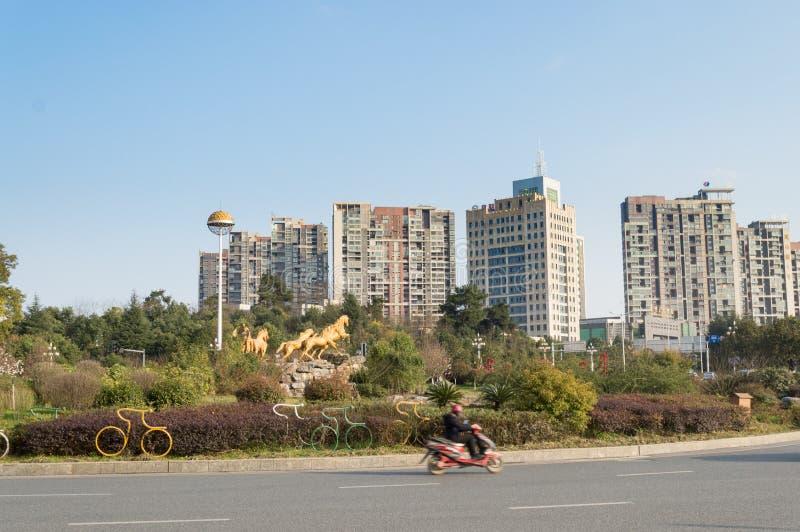 Nouvelle vue de rue de ville de Guiyang photographie stock