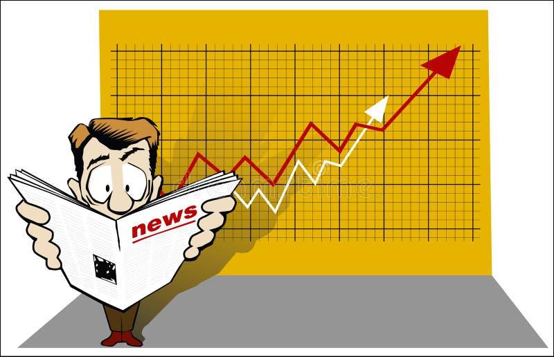 Nouvelles économiques illustration stock