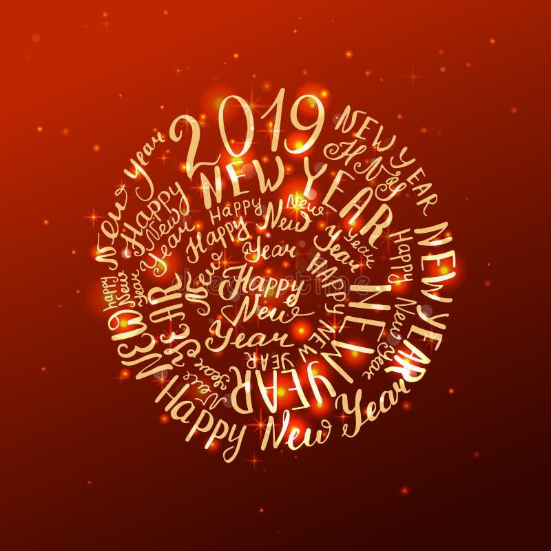 2019 nouvelles années illustration stock