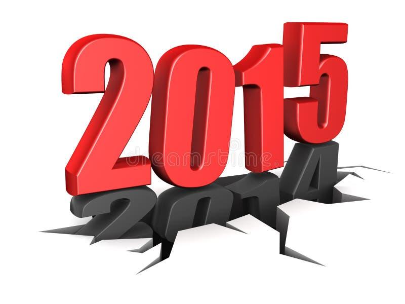 2015 nouvelles années illustration libre de droits
