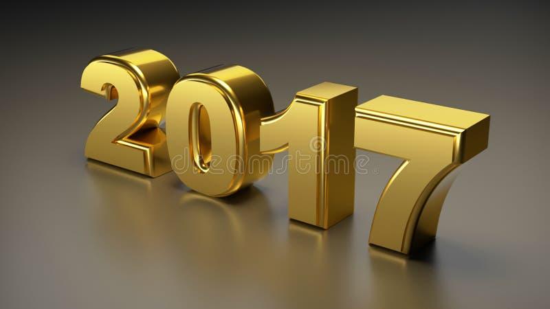 2017 nouvelles années illustration libre de droits