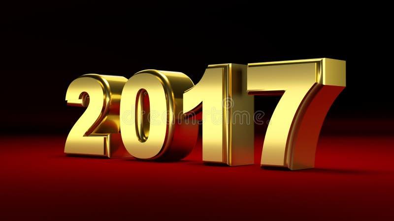 2017 nouvelles années illustration de vecteur