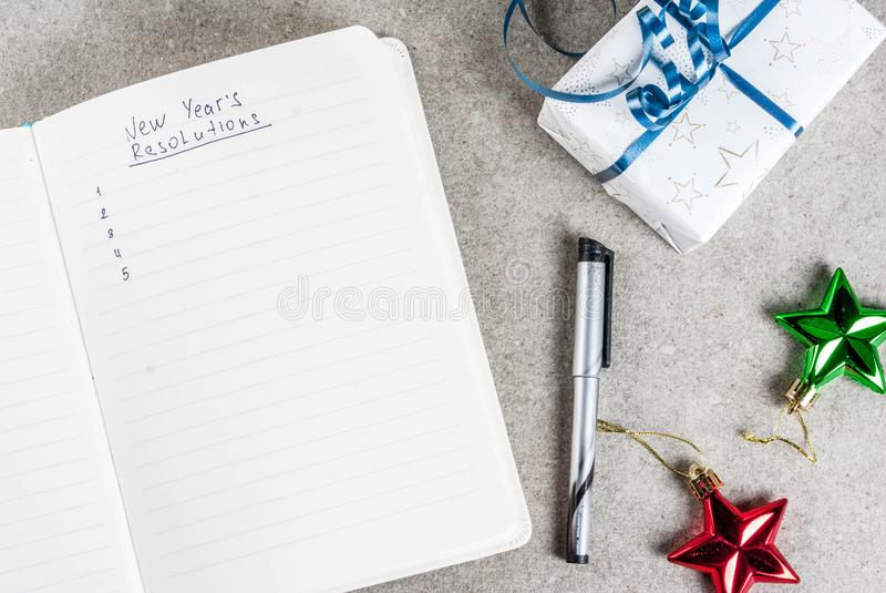Nouvelles années de concept de résolutions photos stock