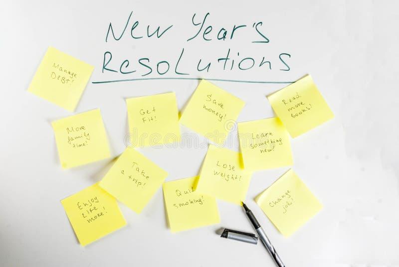 Nouvelles années de concept de résolutions image libre de droits