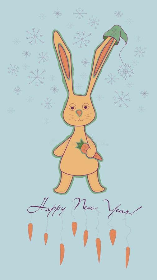 Nouvelles années de lapin image libre de droits