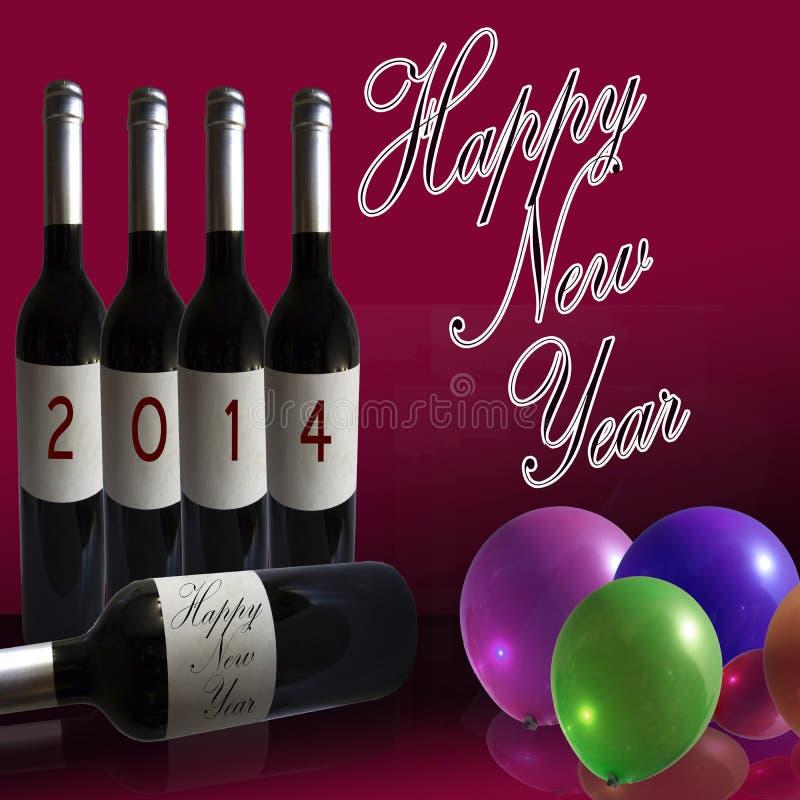 2014 nouvelles années heureuse illustration libre de droits