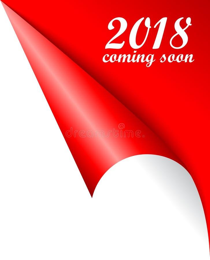 2018 nouvelles années venant bientôt affiche de vecteur illustration libre de droits
