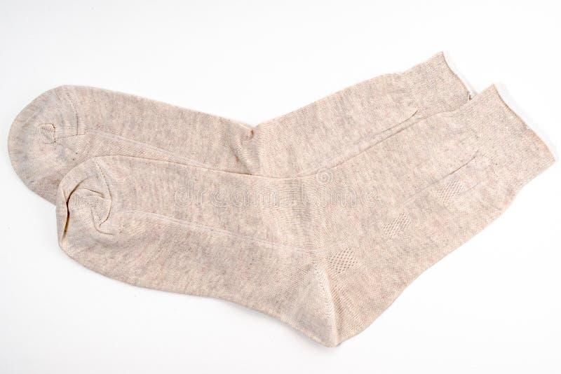 Nouvelles chaussettes blanches image libre de droits