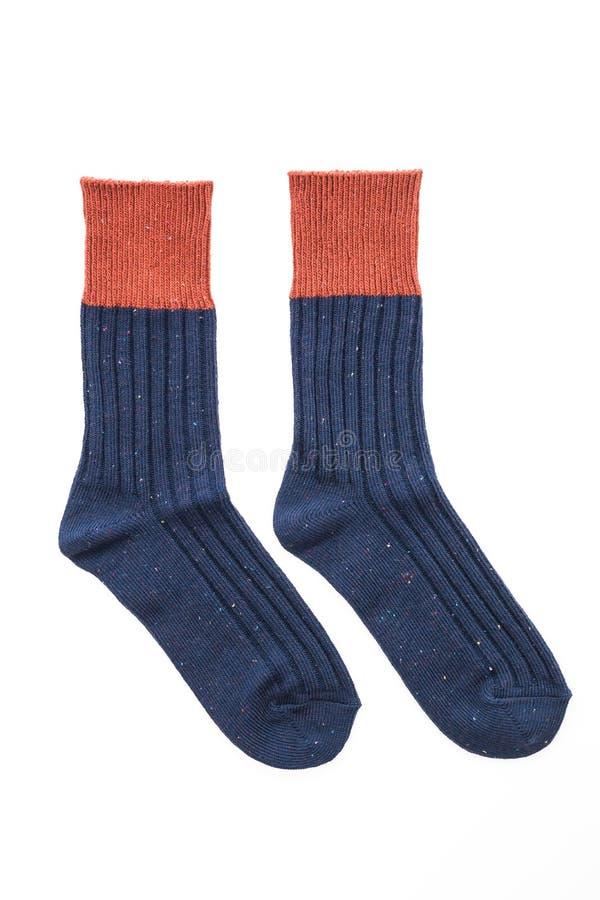 Nouvelles chaussettes d'isolement sur le blanc photos stock