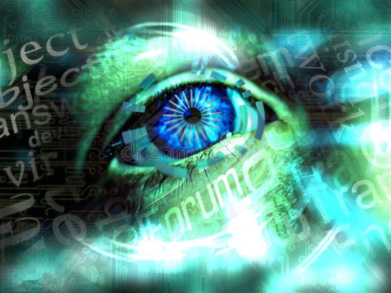 Nouvelles communications de visuels 3d illustrées illustration de vecteur