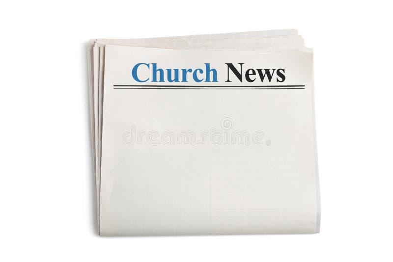 Nouvelles d'église images stock