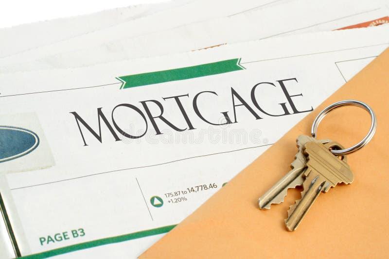 Nouvelles d'hypothèque photographie stock libre de droits