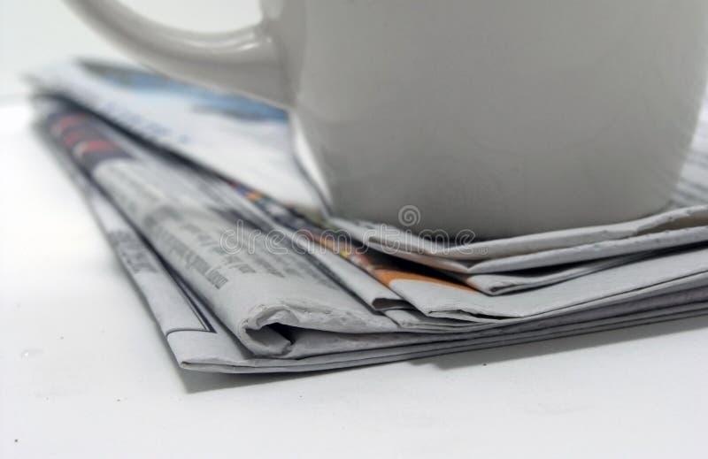 Nouvelles de café images libres de droits
