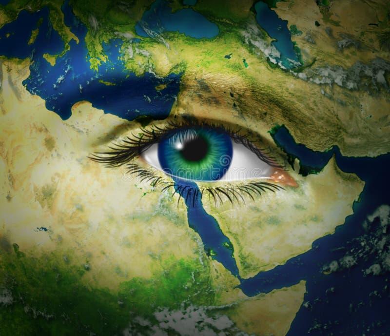 Nouvelles de Moyen-Orient illustration de vecteur