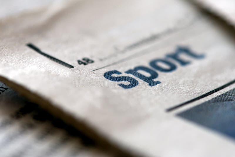 Nouvelles de sport images stock