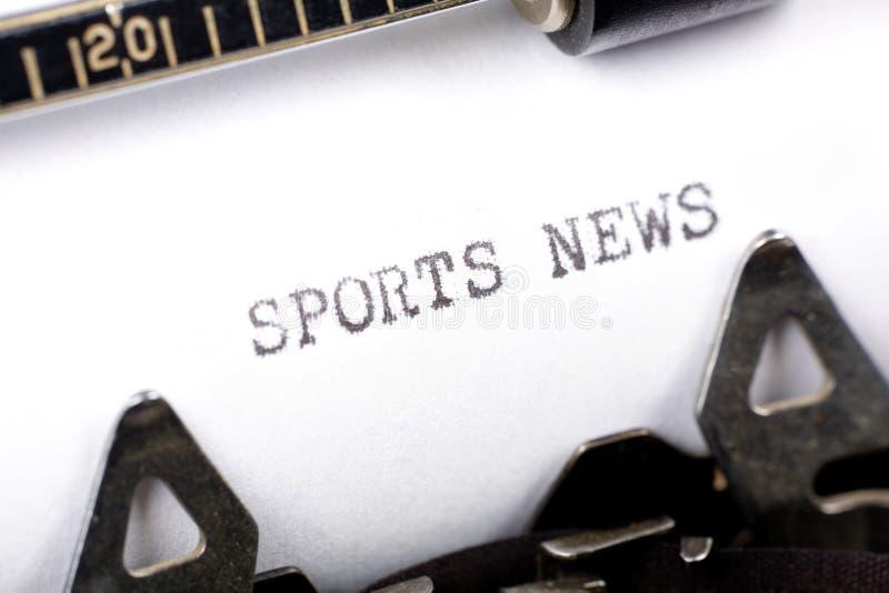 Nouvelles de sports photo libre de droits