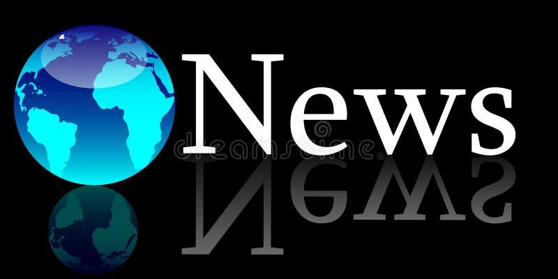 nouvelles globales de concept illustration stock