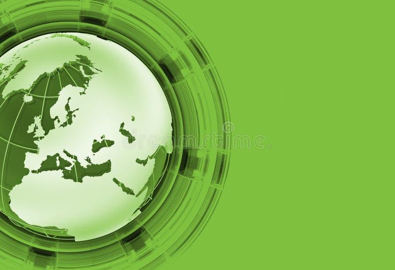 Nouvelles globales vertes illustration stock