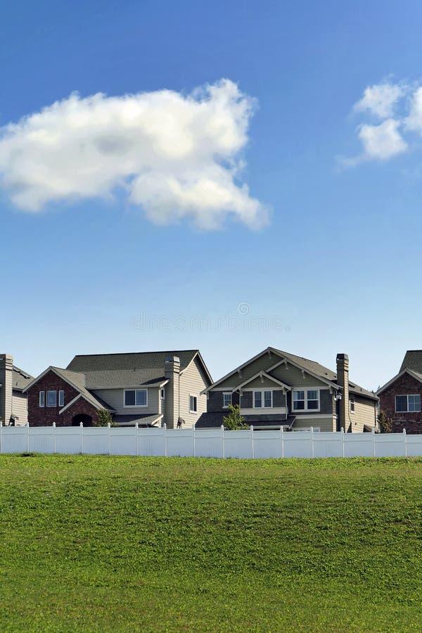 Nouvelles maisons images stock