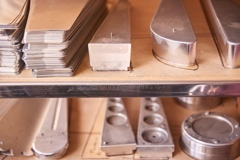 Nouvelles pièces d'acier inoxydable image libre de droits