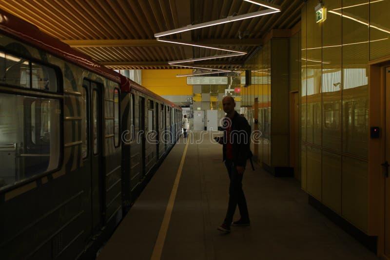 Nouvelles stations de la ligne rouge de la métro de Moscou Station de crochet de Filatov photos stock