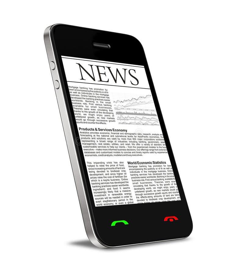 Nouvelles sur le téléphone portable photo libre de droits