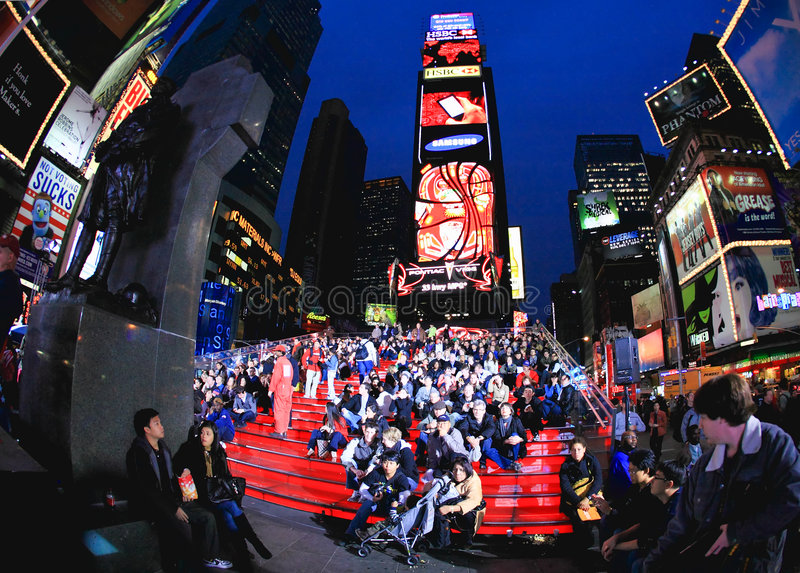 Nov 4, 2008 - The Times Square in NYC royalty free stock photography