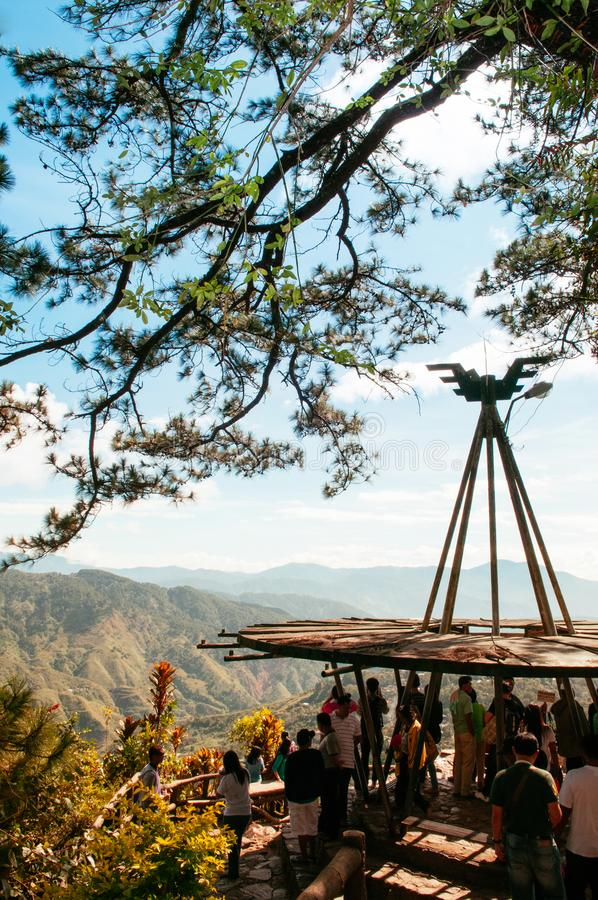 Cordillera mountains viewed at Mines View Park, Baguio City, Phi stock photo