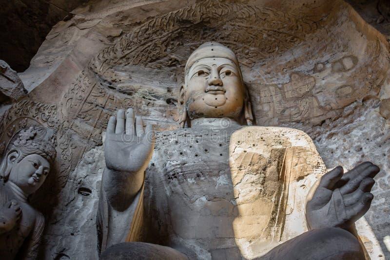Nov 2014, Datong, Chiny: Buddha statua przy Yungang grotami w Datong, Chiny fotografia stock