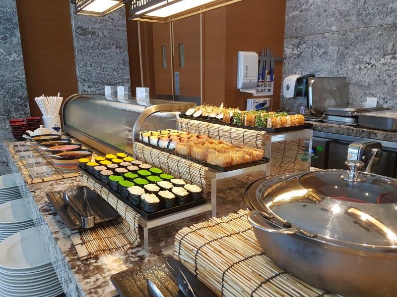 4 Nov. 2016, Jen Hotel Habour Johor Baru, Johor De haven Café is een de hele dag het dineren afzet royalty-vrije stock afbeeldingen
