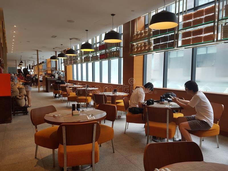 4 Nov. 2016, Jen Hotel Habour Johor Baru, Johor De haven Café is een de hele dag het dineren afzet stock afbeeldingen