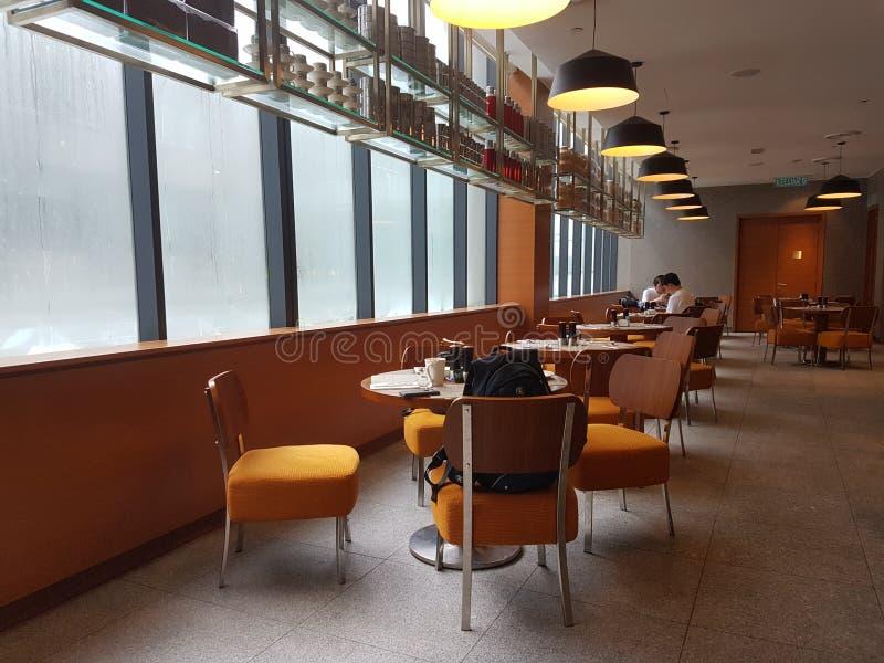 4 Nov. 2016, Jen Hotel Habour Johor Baru, Johor De haven Café is een de hele dag het dineren afzet royalty-vrije stock foto