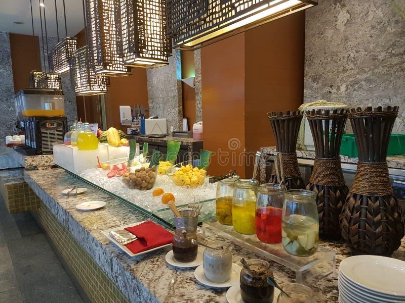 4 Nov. 2016, Jen Hotel Habour Johor Baru, Johor De haven Café is een de hele dag het dineren afzet royalty-vrije stock afbeelding