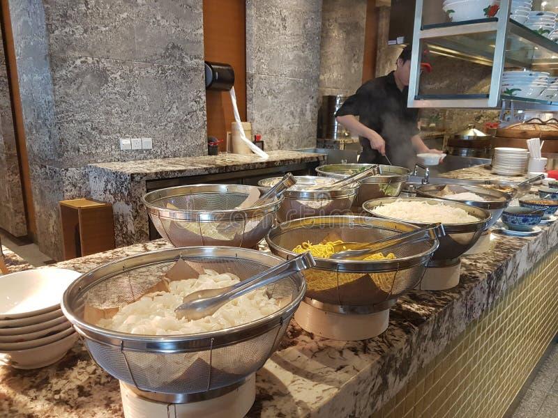 4 Nov. 2016, Jen Hotel Habour Johor Baru, Johor De haven Café is een de hele dag het dineren afzet stock foto