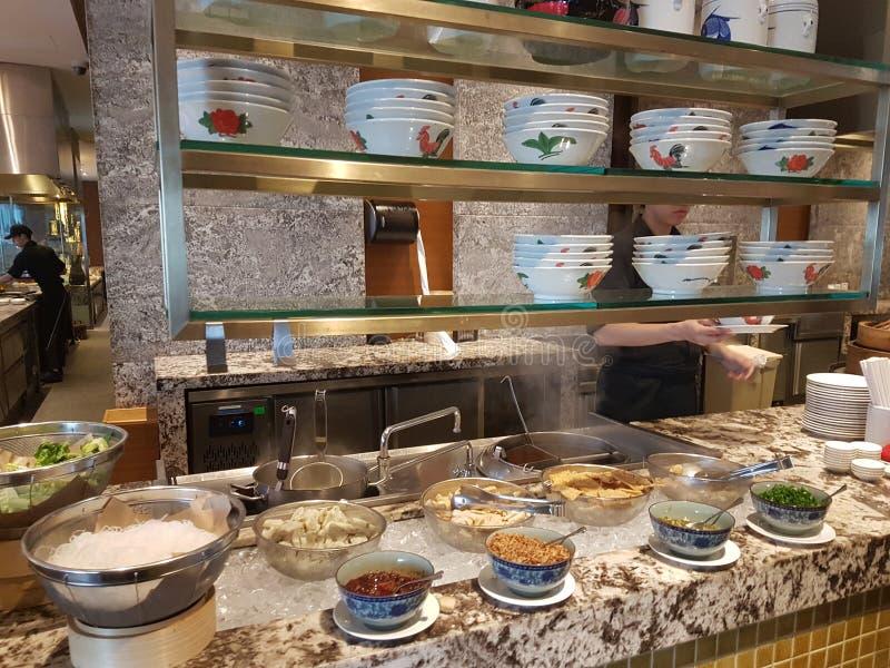 4 Nov. 2016, Jen Hotel Habour Johor Baru, Johor De haven Café is een de hele dag het dineren afzet royalty-vrije stock fotografie