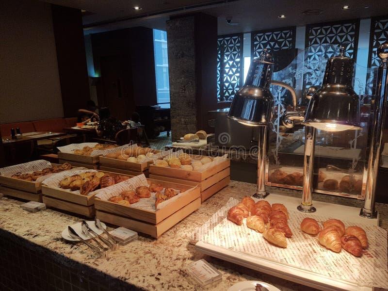 4 Nov. 2016, Jen Hotel Habour Johor Baru, Johor De haven Café is een de hele dag het dineren afzet stock afbeelding