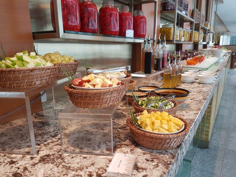 4 Nov. 2016, Jen Hotel Habour Johor Baru, Johor De haven Café is een de hele dag het dineren afzet stock fotografie