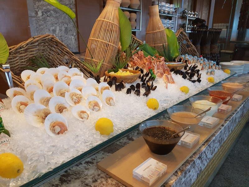 4 Nov. 2016, Jen Hotel Habour Johor Baru, Johor De haven Café is een de hele dag het dineren afzet stock foto's