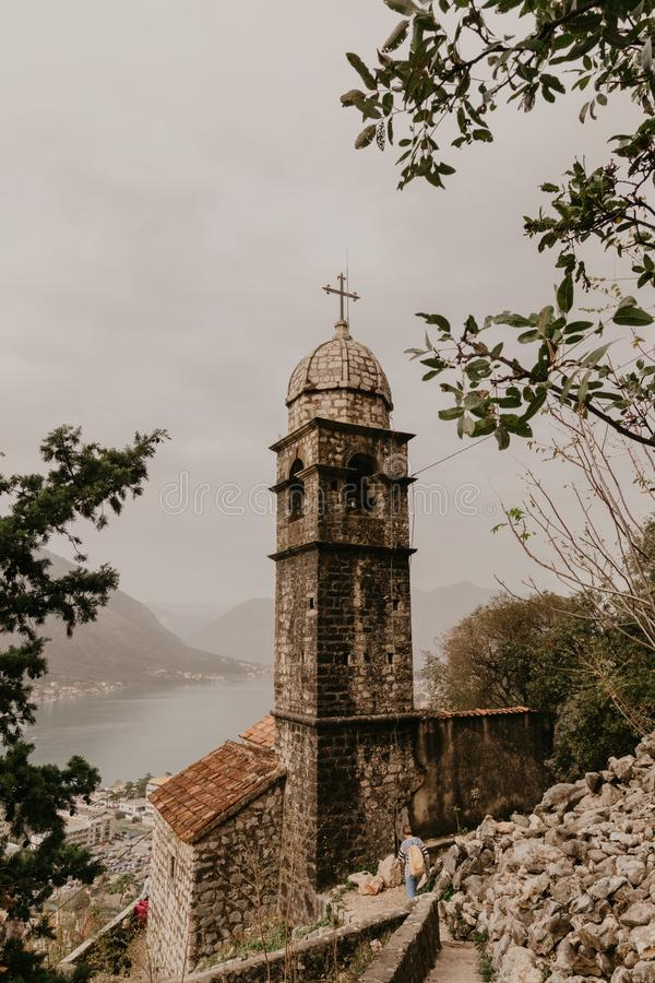 30 2018 Nov Kotor Kościół Nasz Leady remedium w Kotor Montenegro - Wizerunek zdjęcia stock