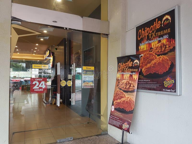 29 2016 Nov, Kuala Lumpur Teksas kurczaka ujście przy Kuala Lumpur fotografia royalty free