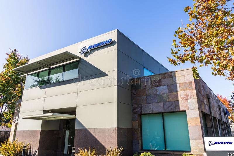 Nov 22, 2019 Menlo Park / CA / USA - Boeing office building housing the subsidiary Aurora Flight Sciences, which designs and. Develops special-purpose Unmanned royalty free stock photography