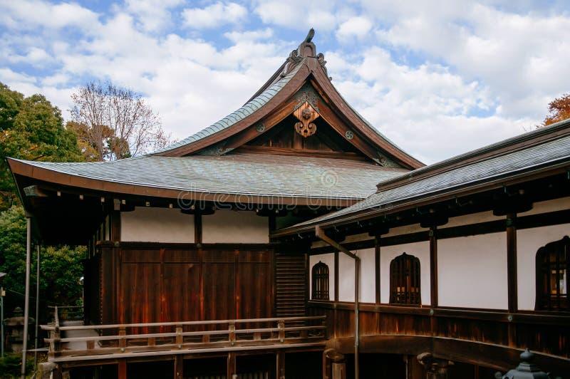 Old wooden building of Kiyomizu Kannon-do shrine in Ueno park, Tokyo stock photography
